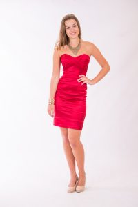 Red Strapless Dress